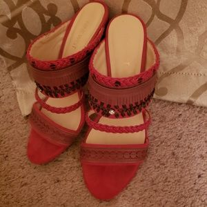 Nine West Red Ethnic Vibe Shoes